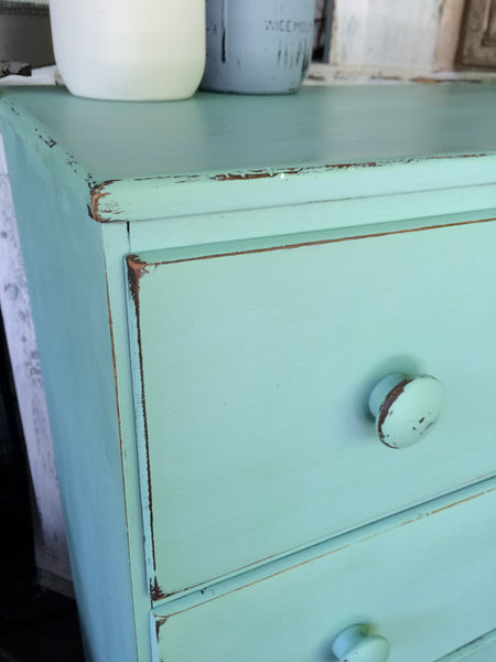 "Chalky Patina ""Beach Glass"""