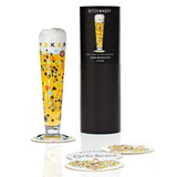 Ritzenhoff Poker Thrill Beer Glass with Coasters