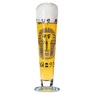 Ritzenhoff Pharaoh Beer Glass with Coasters