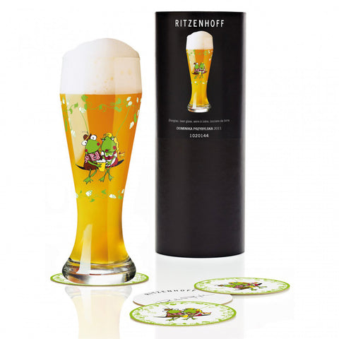 Ritzenhoff In Love Beer Glass with Coasters