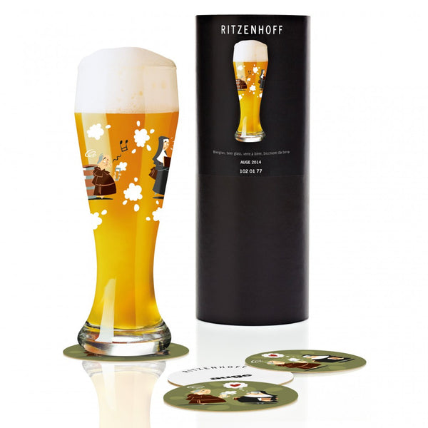Ritzenhoff Fun Nuns Beer Glass with Coasters