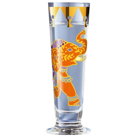 Ritzenhoff Traditional Elephant Schnapps Shot Glass with Coasters