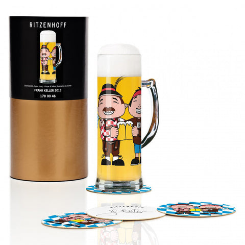 Ritzenhoff Happy Tourists Beer Mug with Coasters