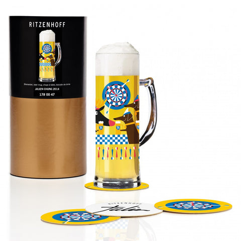 Ritzenhoff Dartboard Beer Mug with Coasters