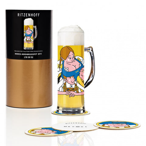 Ritzenhoff Oomph Beer Mug with Coasters