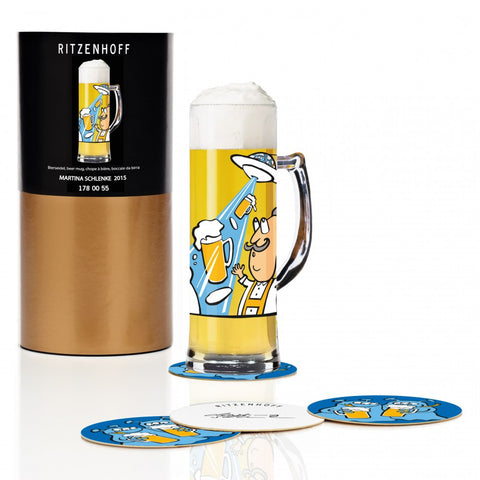 Ritzenhoff UFO Beer Mug with Coasters