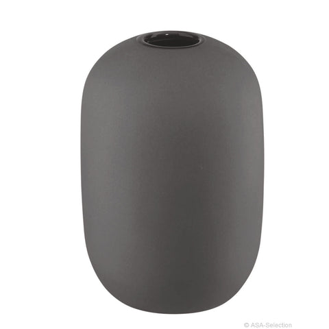 ASA Smoothies Design Coloured Stoneware Vase, Medium Grey