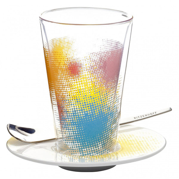 Ritzenhoff Colour Dash Latte Macchiato Glass