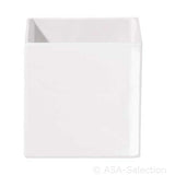 ASA Quadro Designs White Square Planter Pot, extra small