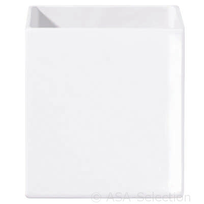 ASA Quadro White Rectangular Vase, extra small