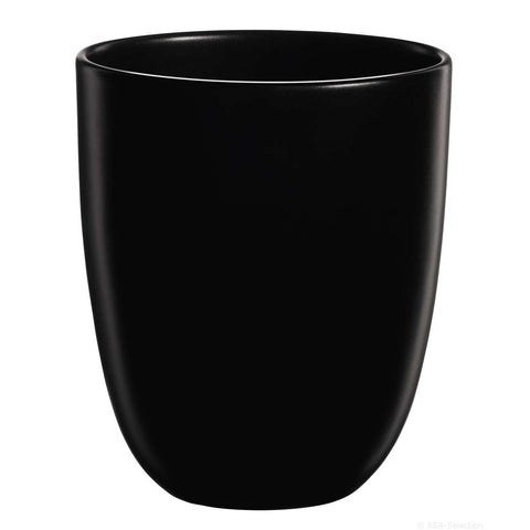 ASA Ovale Design Black Matt Vase, Large