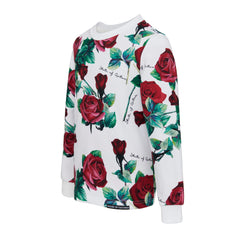 Maroon roses sweater 20F-139