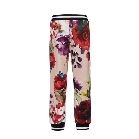 The maroon floral print pants