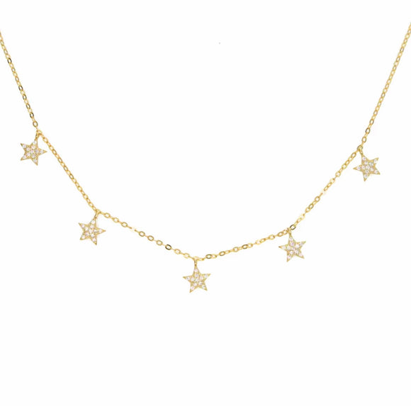 925 STERLING STAR CHARM NECKLACE