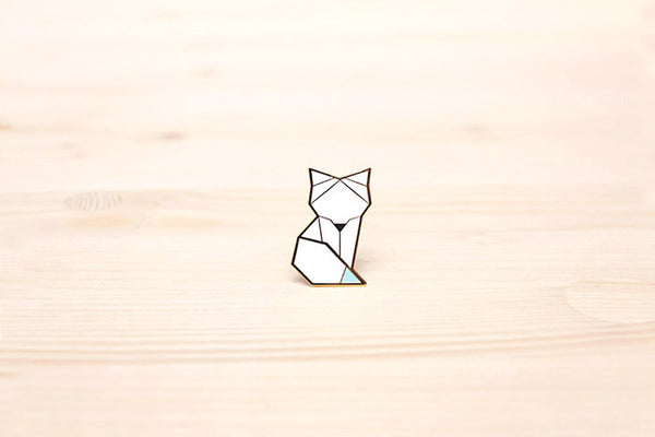 Arctic Fox brooch