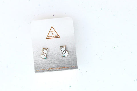 Arctic Fox Earring