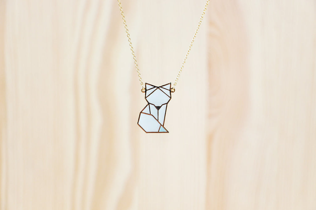 Arctic Fox (Standing) Necklace