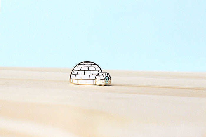 Igloo brooch