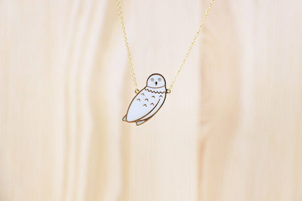 Arctic Owl Necklace