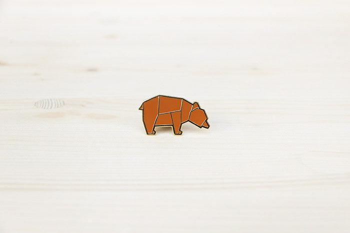 Forest Bear brooch