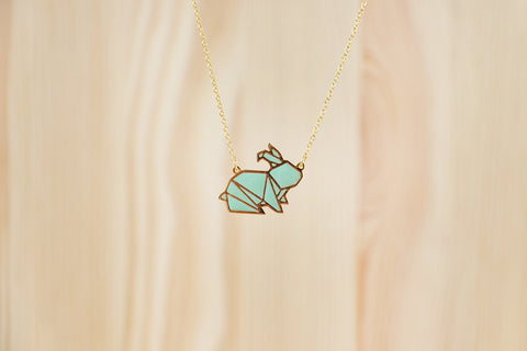 Origami Bunny Necklaces