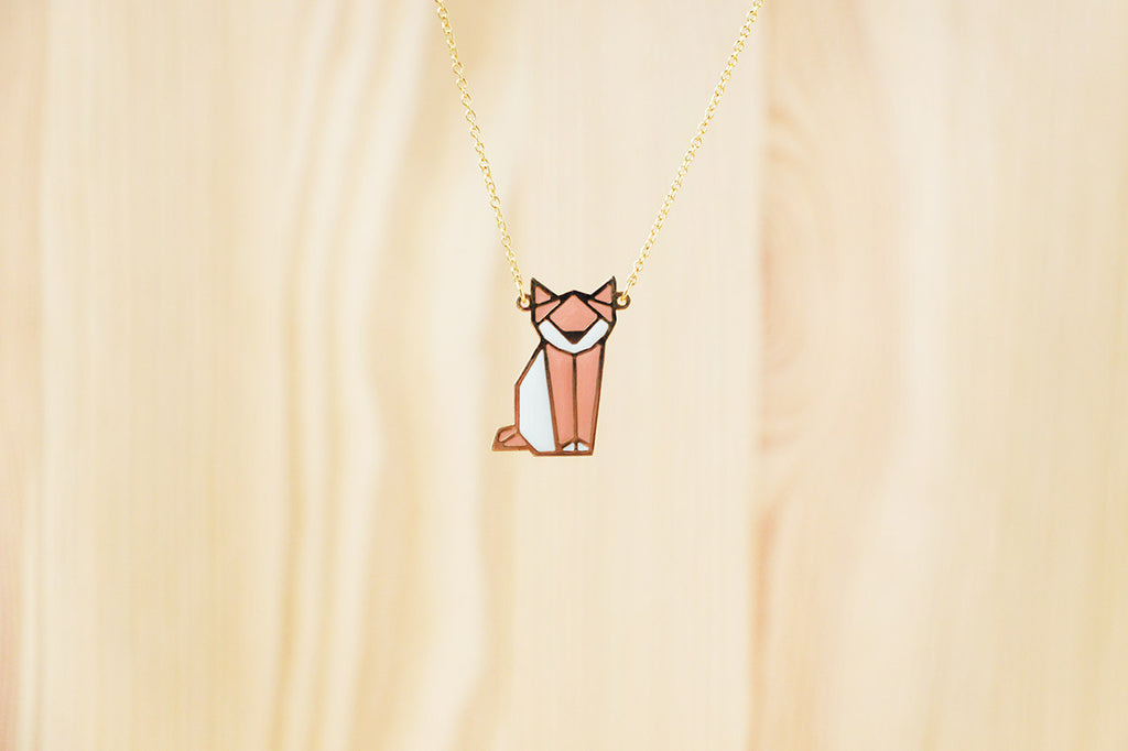 Origami Cat Necklaces