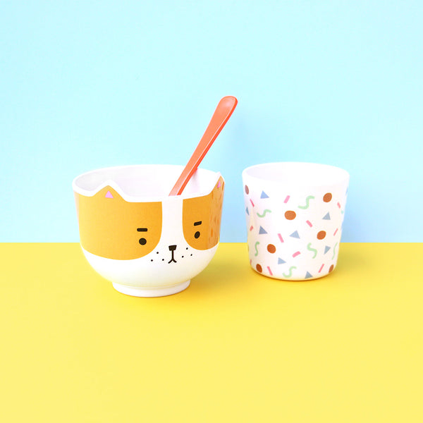 Dog Bowl & Cup Set