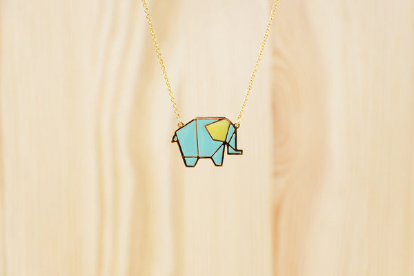 Origami Elephant Necklaces