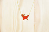 Origami Fox Necklaces