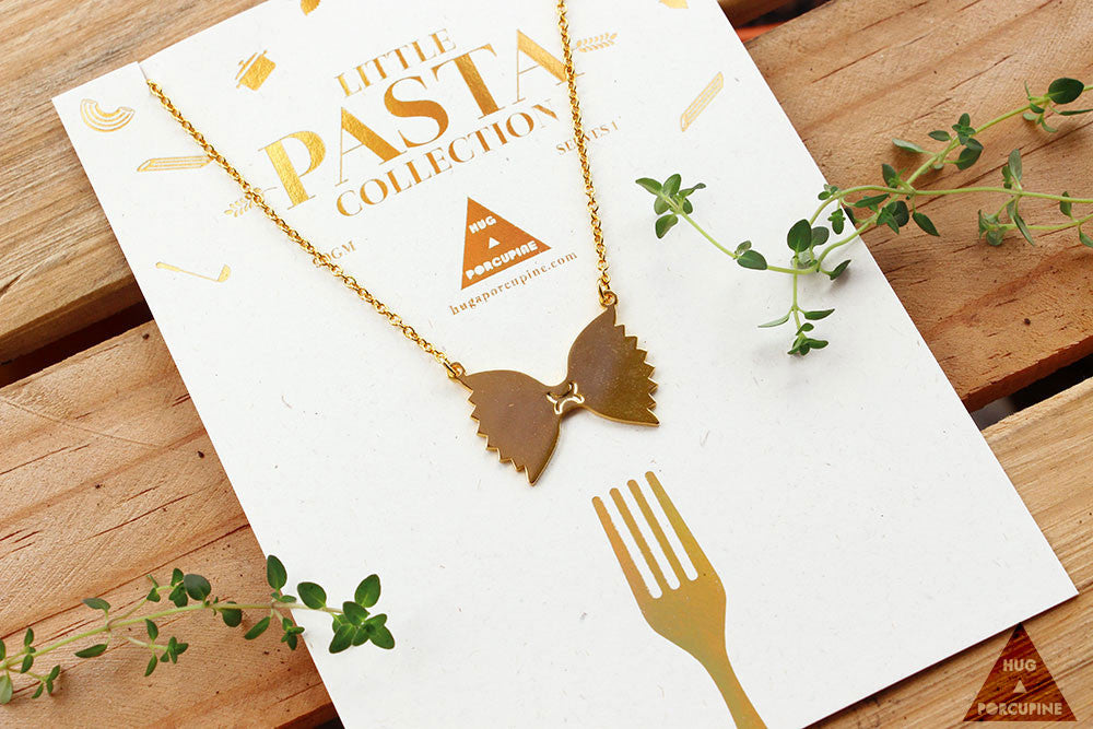 Pasta Farfelle necklace