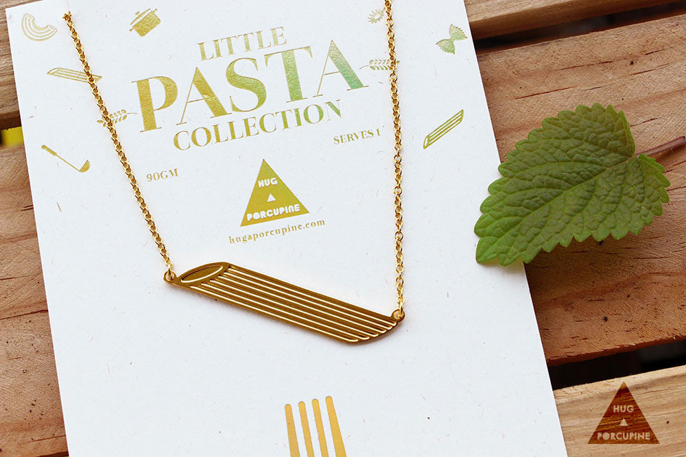 Pasta Penne necklace
