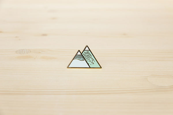 Winter Mountain brooch