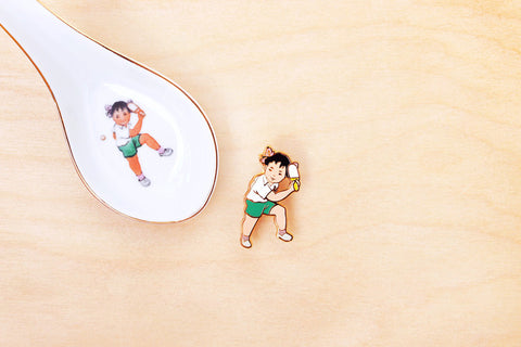 Ping Pong Girl brooch