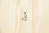 Origami Rabbit Necklaces
