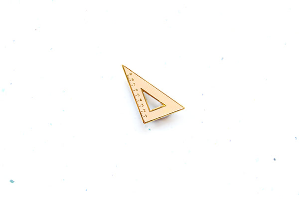 Set Square brooch