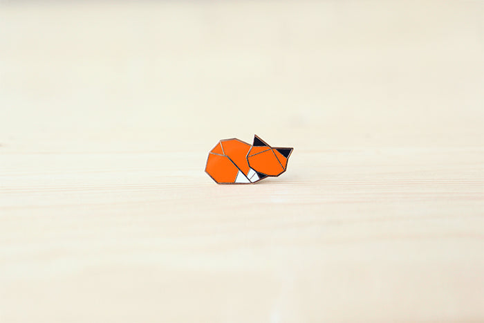 Woodland Fox (Sleeping) brooch