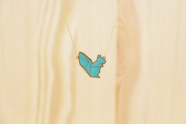 Origami Squirrel Necklaces