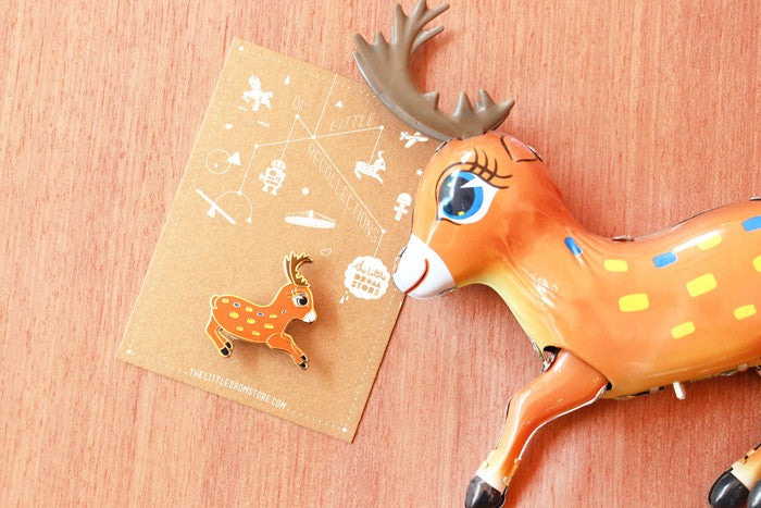 Tin Toy Deer brooch