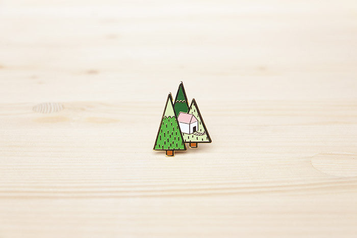 Treehouse brooch