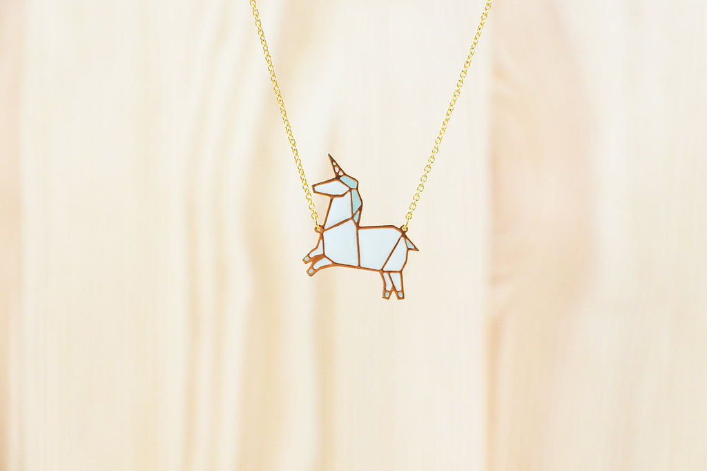 Origami Unicorn Necklaces