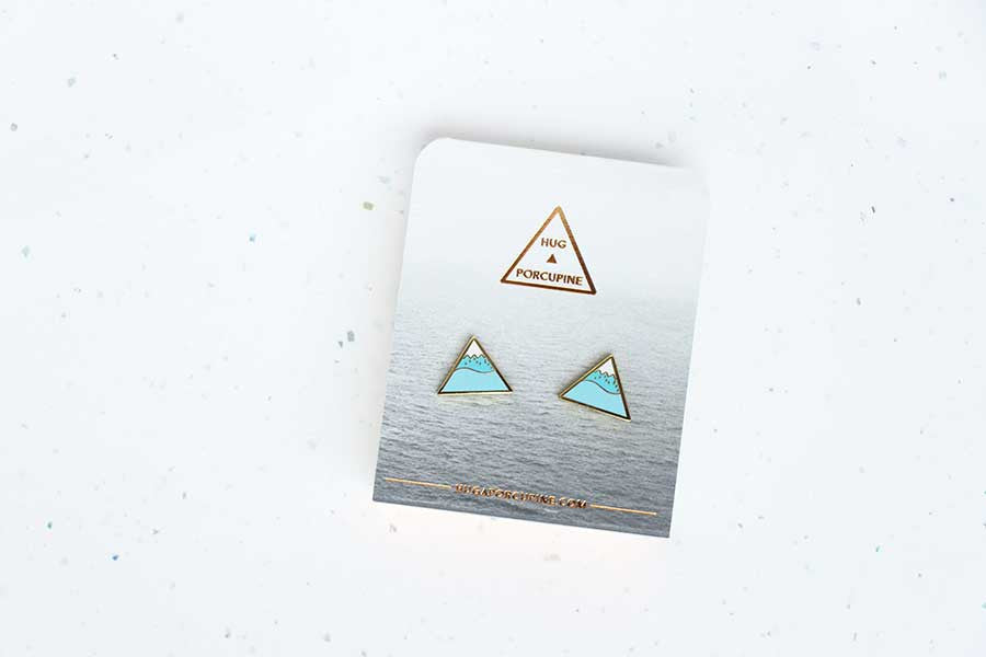 Winter Mountain Earring