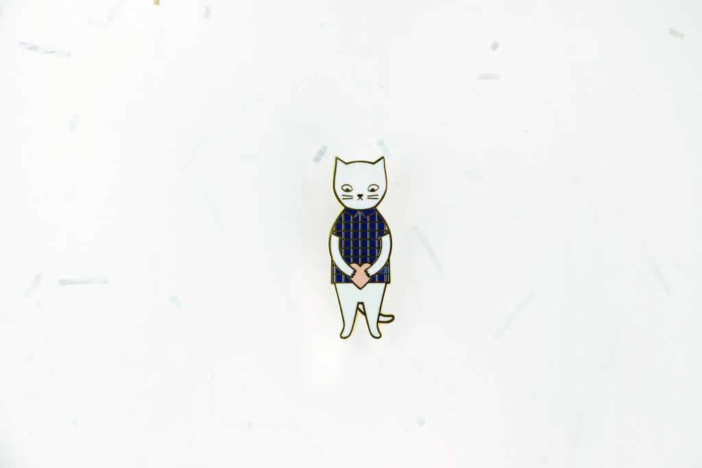 Mr Cat Brooch