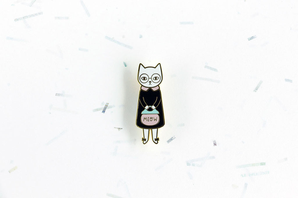 Mrs Cat Brooch