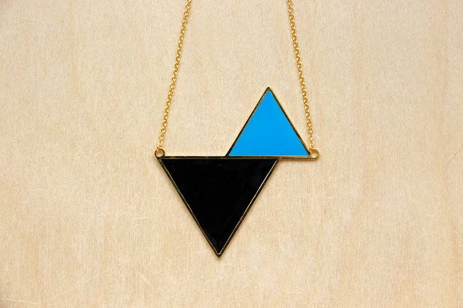 Twin Triangle Necklaces (Black Series)