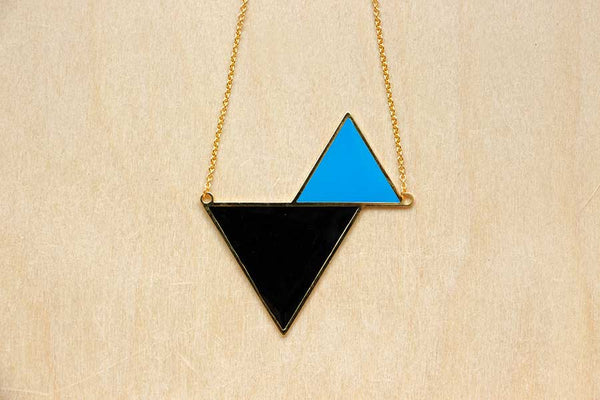 Twin Triangle Necklaces