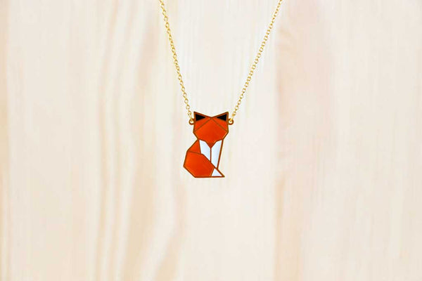 Woodland Fox (Standing) Necklace