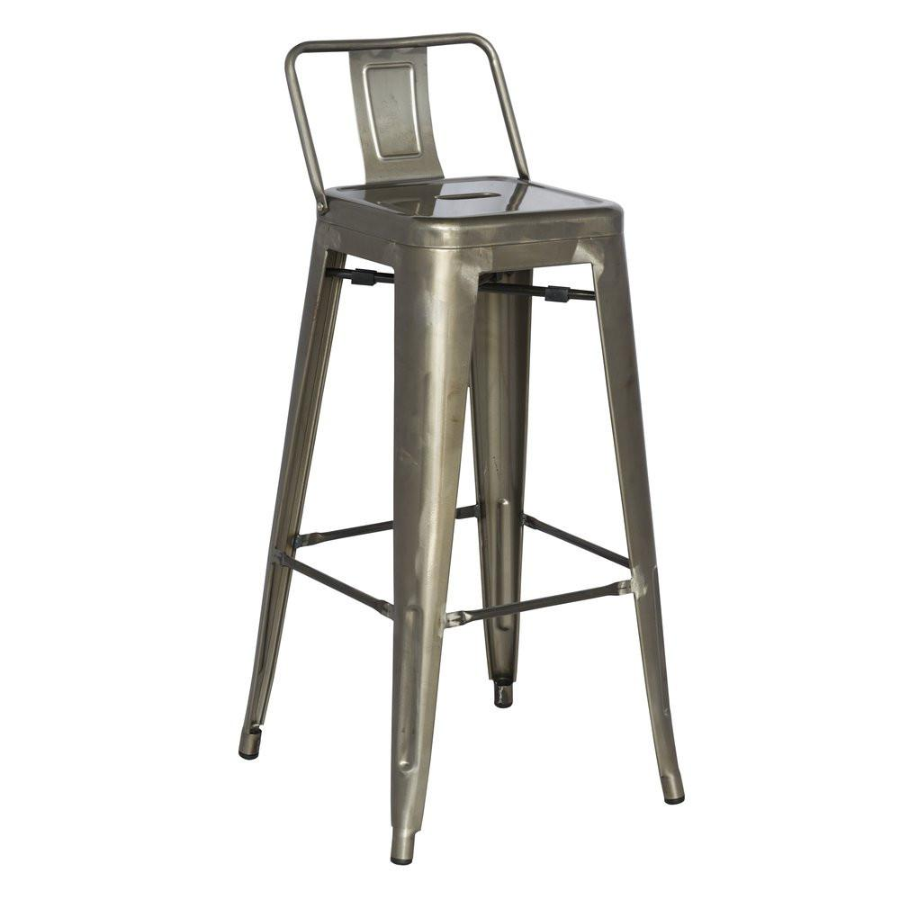 Excellent Galvanized 30 Steel Bar Stool Set Set Of 4 By Chintaly Gamerscity Chair Design For Home Gamerscityorg