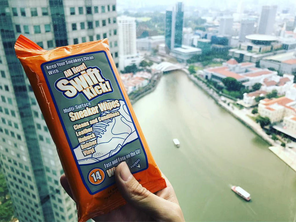 Swift Kick Sneaker Wipes interviewed by Singapore lifestyle curators Holahow