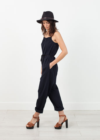 Sleeveless Jumpsuit in Navy