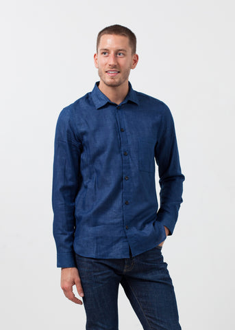 Casual Indigo Shirt